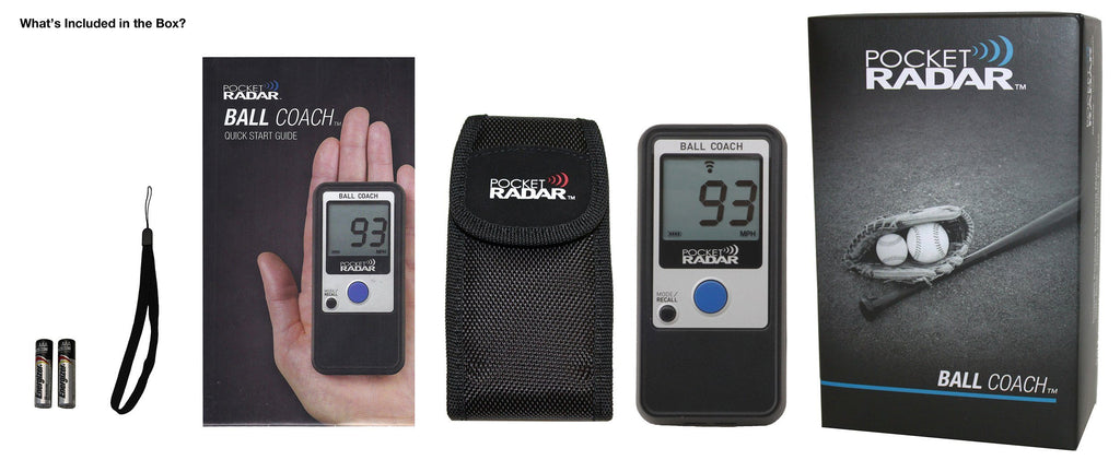 Pocket Radar Ball Coach / Pro-Level Speed Training Tool & Radar Gun: PR1000-BC at headbangersports.com