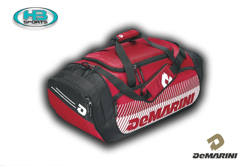 Scarlett Navy DeMarini Baseball and Softball Bull Pen Duffel Bag at Headbangersports.com
