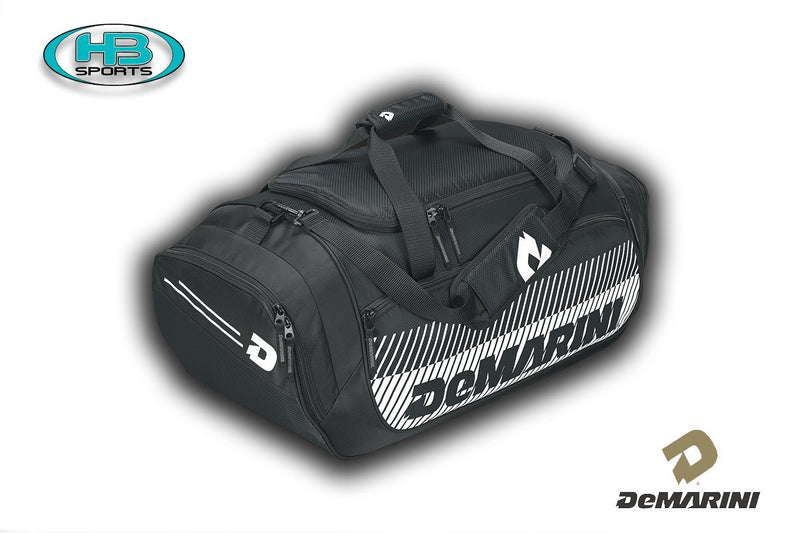 Black Navy DeMarini Baseball and Softball Bull Pen Duffel Bag at Headbangersports.com