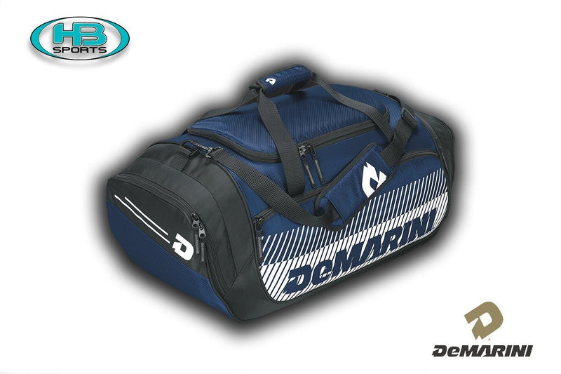 Navy Navy DeMarini Baseball and Softball Bull Pen Duffel Bag at Headbangersports.com