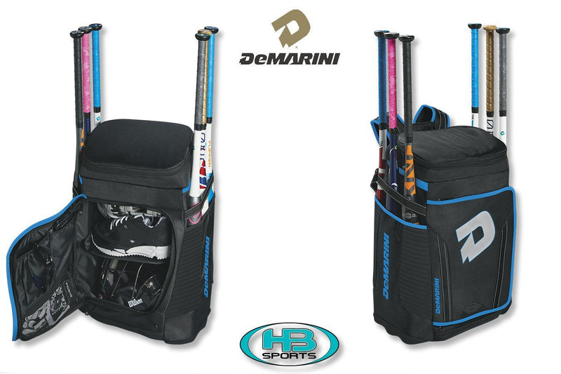 Black and Blue DeMarini Special Ops Baseball and Softball Backpack at Headbangersports.com