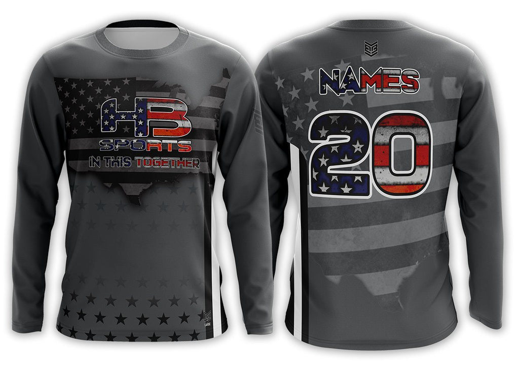 "HB Sports ""In This Together"" Custom Long Sleeve Jersey Buy In"