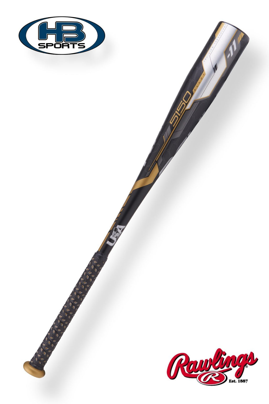 "2018 Rawlings 5150 (-11) 2 5/8"" USA Baseball Bat: US8511 at headbangersports.com"