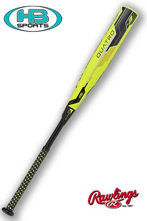RAWLINGS QUATRO BBCOR BASEBALL BAT, BATS, VELO, and more at Headbangersports