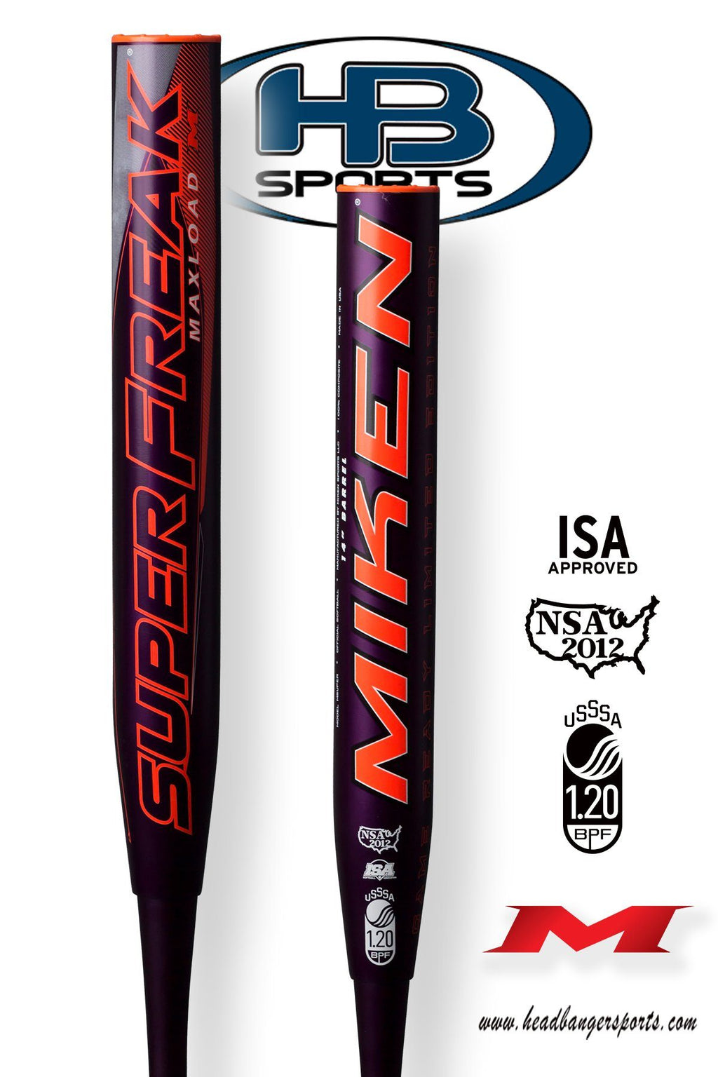 2018 Miken Super Freak MAXLOAD Game Ready Edition USSSA Slowpitch Softball Bat: MSUPER at headbangersports.com