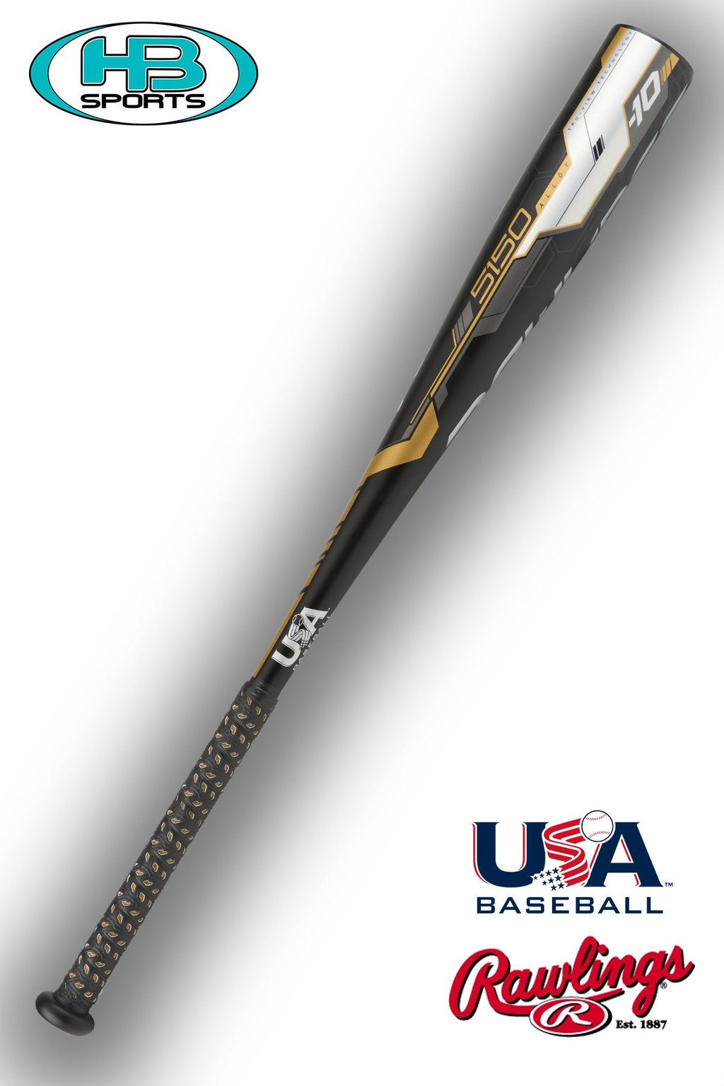 USA Baseball Stamp Rawlings 5150 Alloy Youth Baseball Bat US8510 at Headbangersports.com