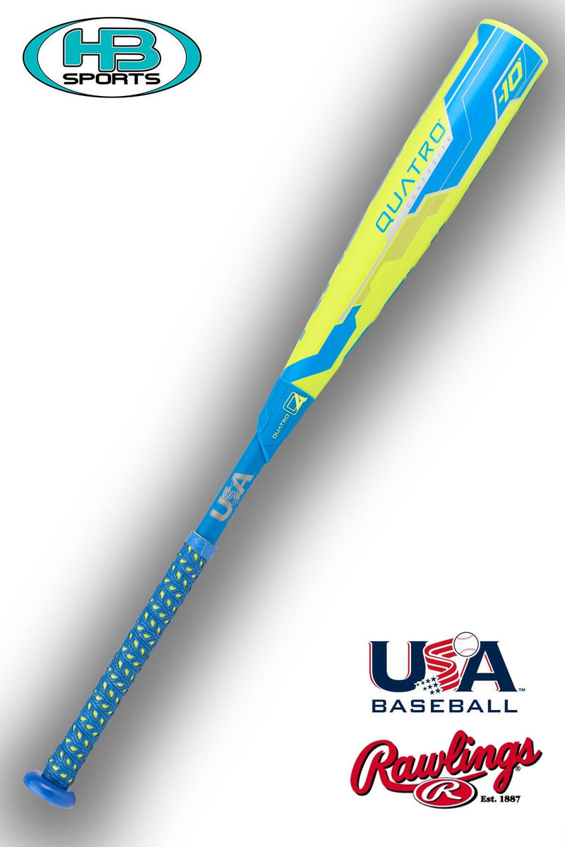 Rawlings Quatro Composite Youth Baseball Bat (USA Baseball):  US8Q10 at headbangersports.com