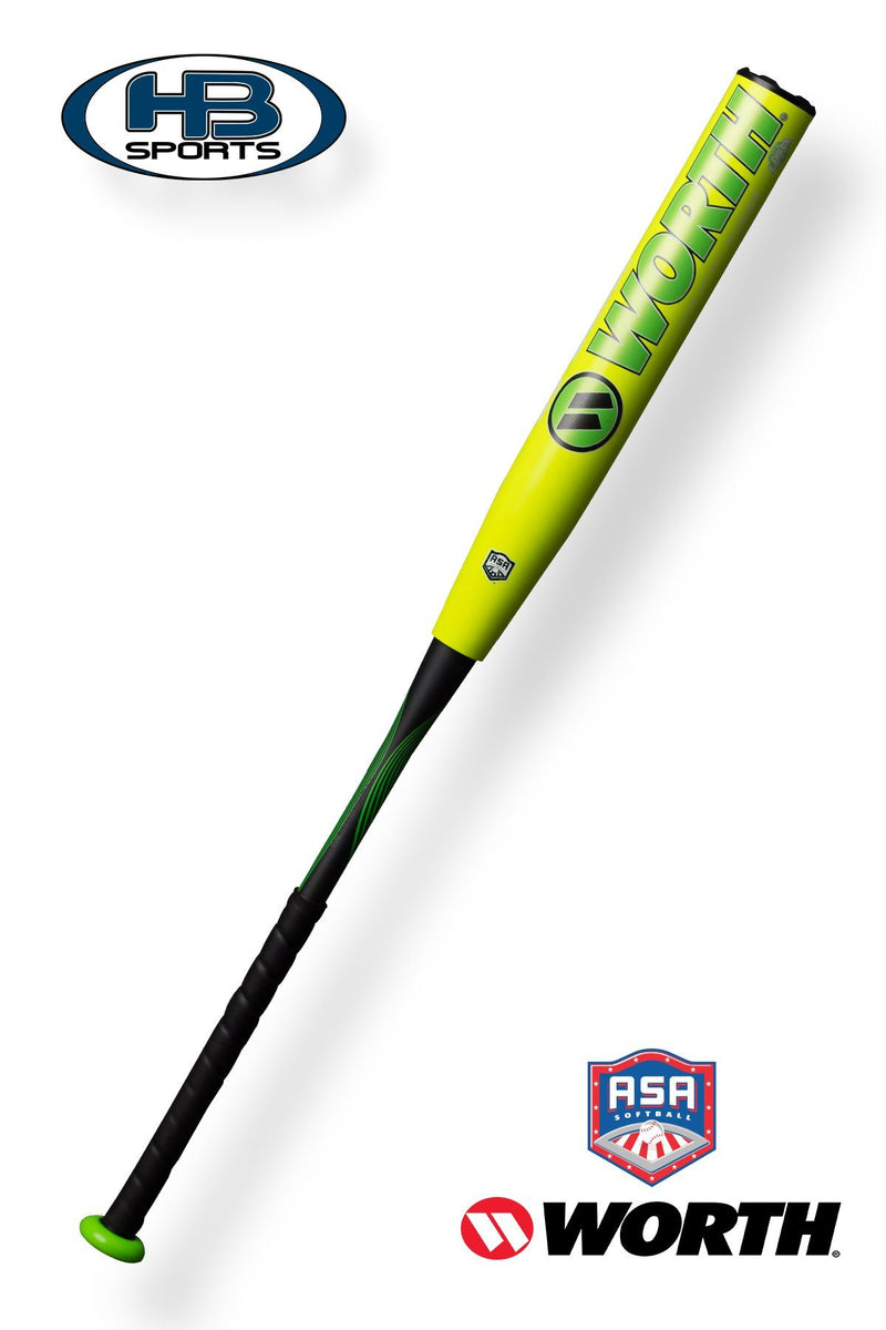 "Worth Sports 12.5"" Adult Slowpitch Softball Bat. Top Rated 2018 Softball Bat for ASA Leagues and Tournaments."