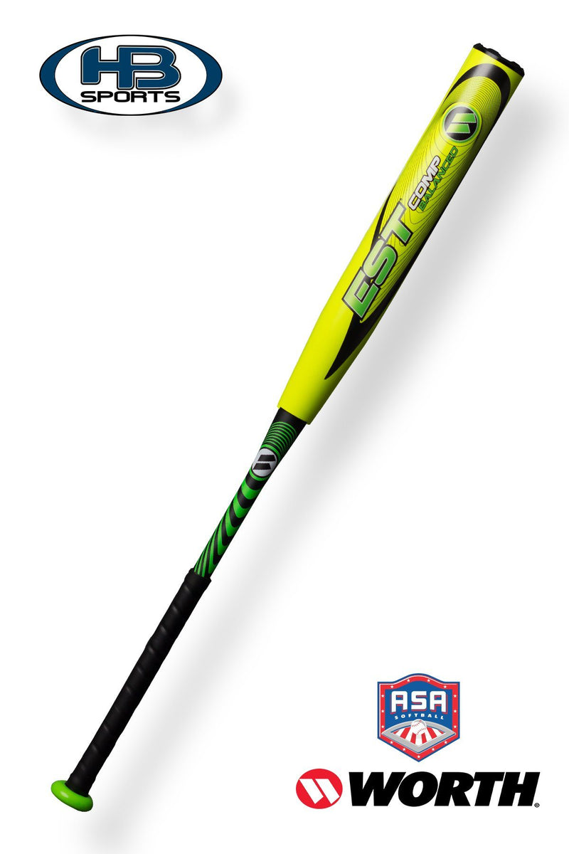 "2018 Worth 12.5"" ASA EST COMP Balanced Softball Bat: WCE12A at headbangersports.com"