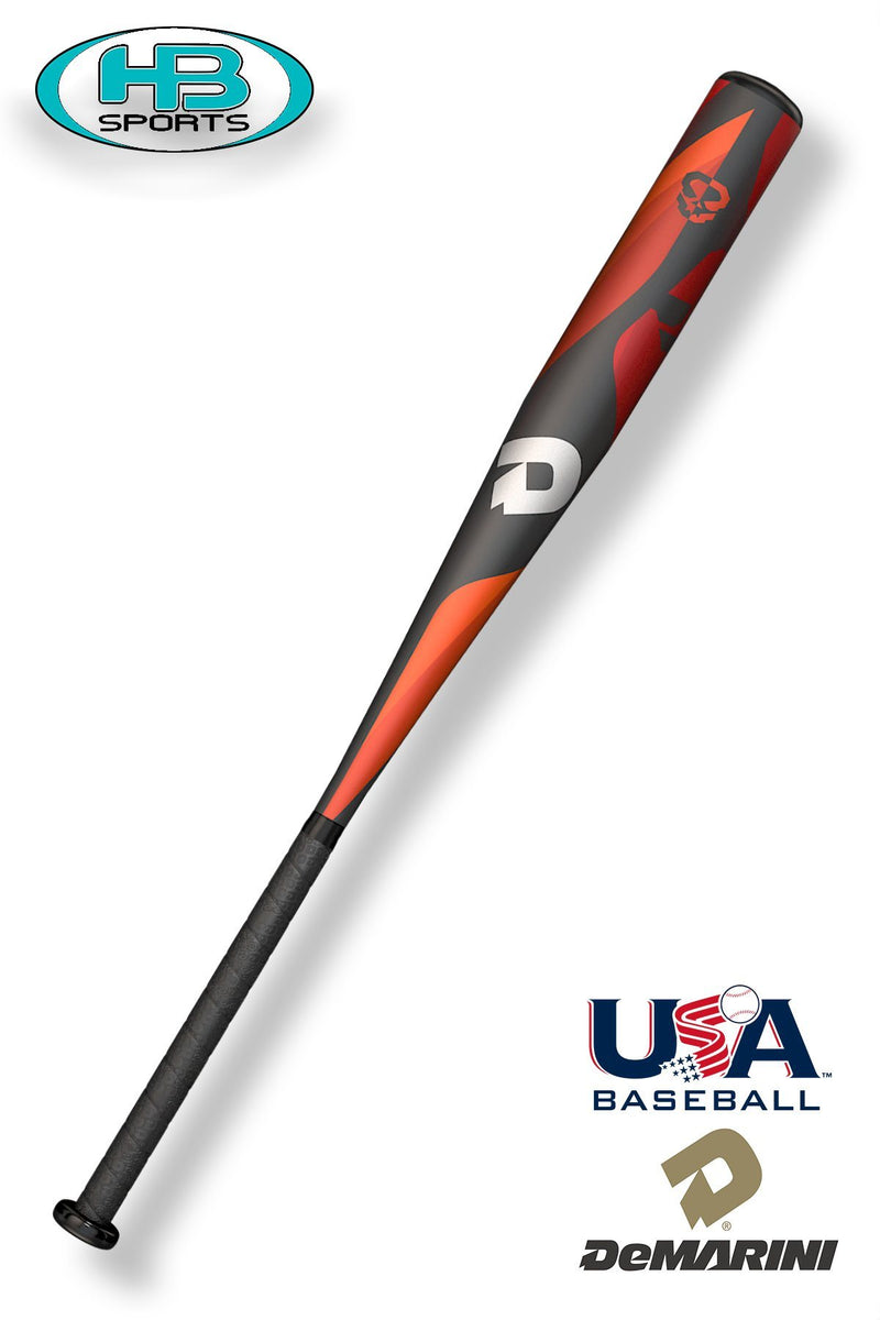 "2018 DeMarini Uprising (-10) 2 1/2"" Balanced USA Baseball Bat: WTDXUPL at Headbangersports.com"