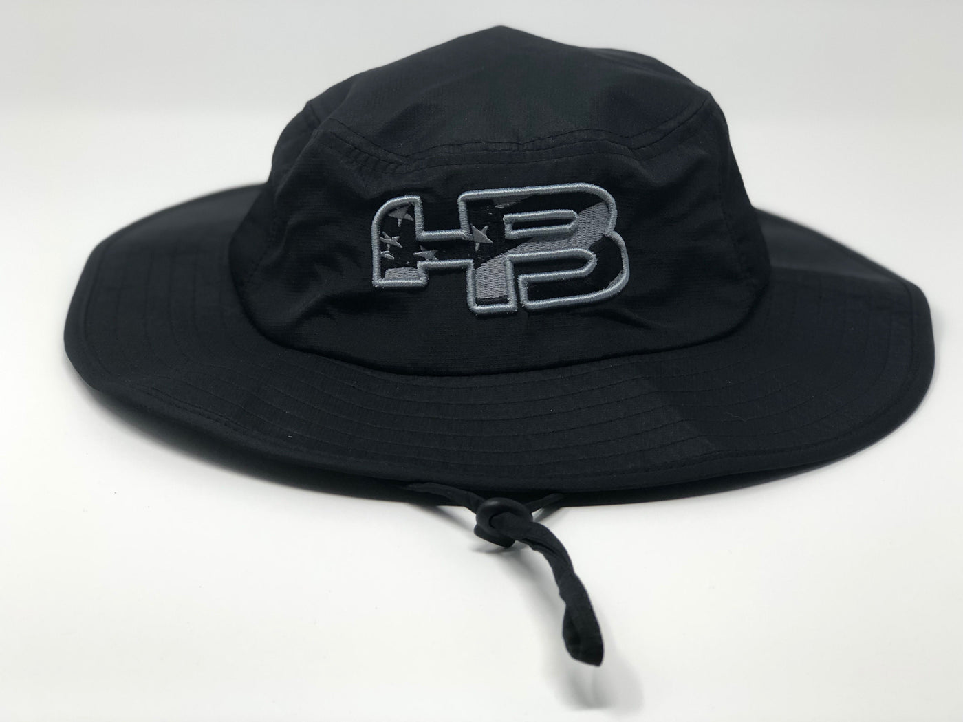 92cfe999b9b368 HB Sports Exclusive Pacific 1946 Boonie Bucket Cap: Black/Dark Camo USA