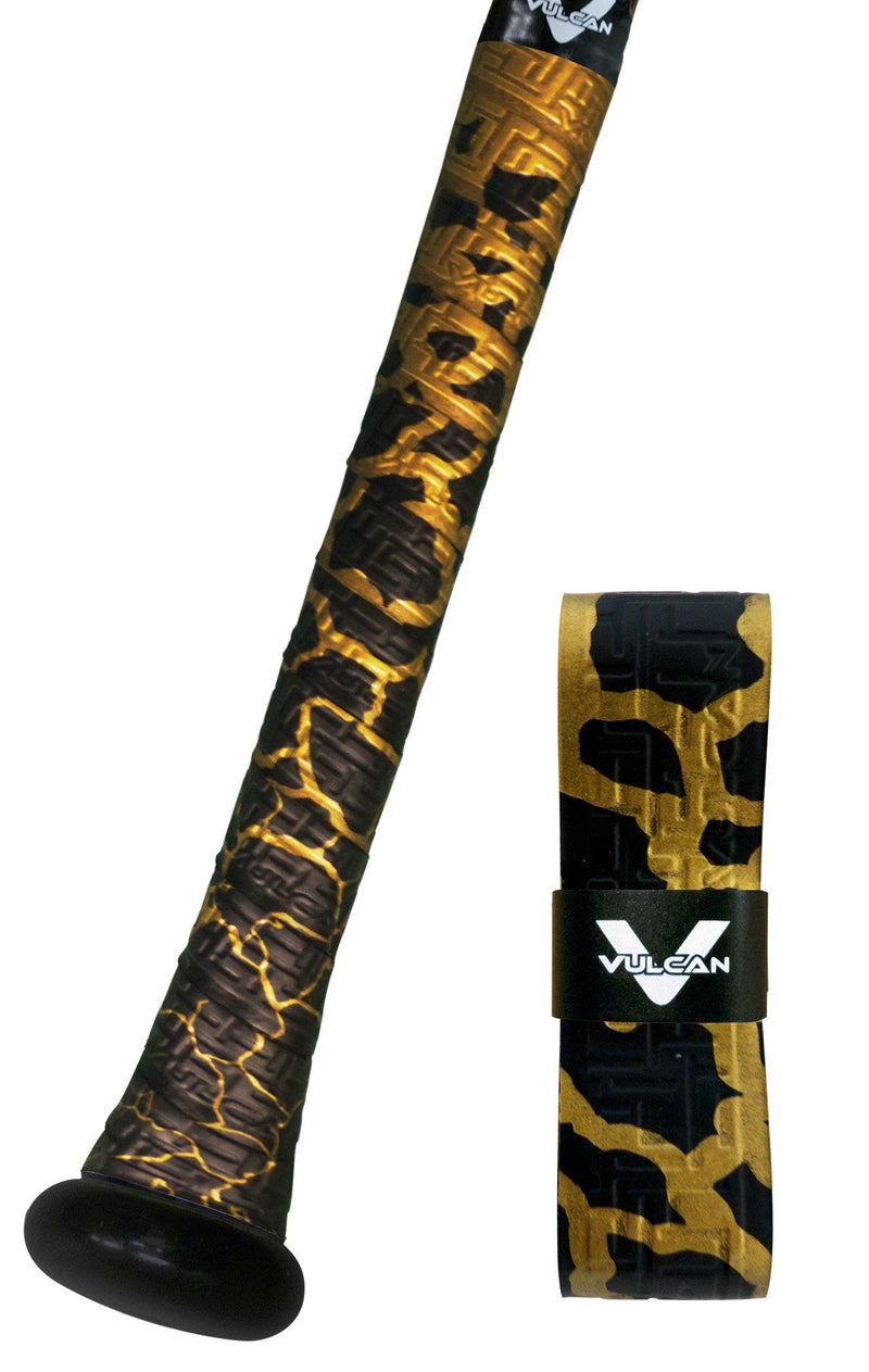 Breaking Gold Uncommon Series Vulcan Bat Grips at Headbangersports.com