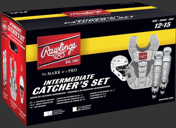 Rawlings Intermediate Black/Graphite VELO 2.0 Catcher's Gear Box Set: CSV2I-B/GPH