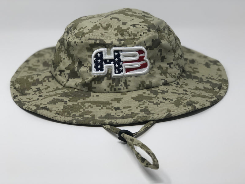 HB Sports Exclusive Pacific 1946 Boonie Bucket Cap: DESERT Camo at headbangersports.com
