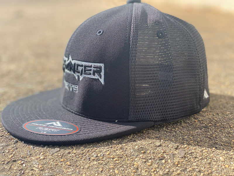 Headbanger Sports Exclusive Pacific ES341 Premium Flexfit Hat: Charcoal OG'