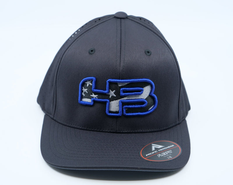 HB Exclusive 474F F3 Performance Fitted Hat: Code Blue