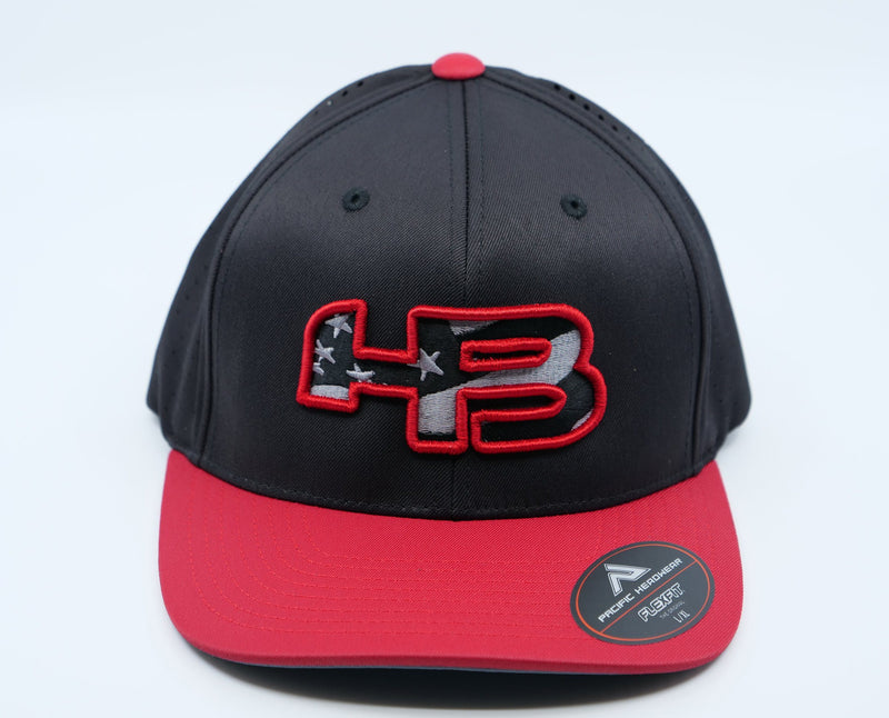 HB Exclusve 474F F3 Performance Fitted Hat: Code Red