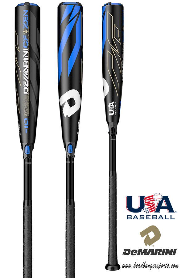 DeMarini USA CF Zen Baseball Bat, Little League, Pony, Babe Ruth.