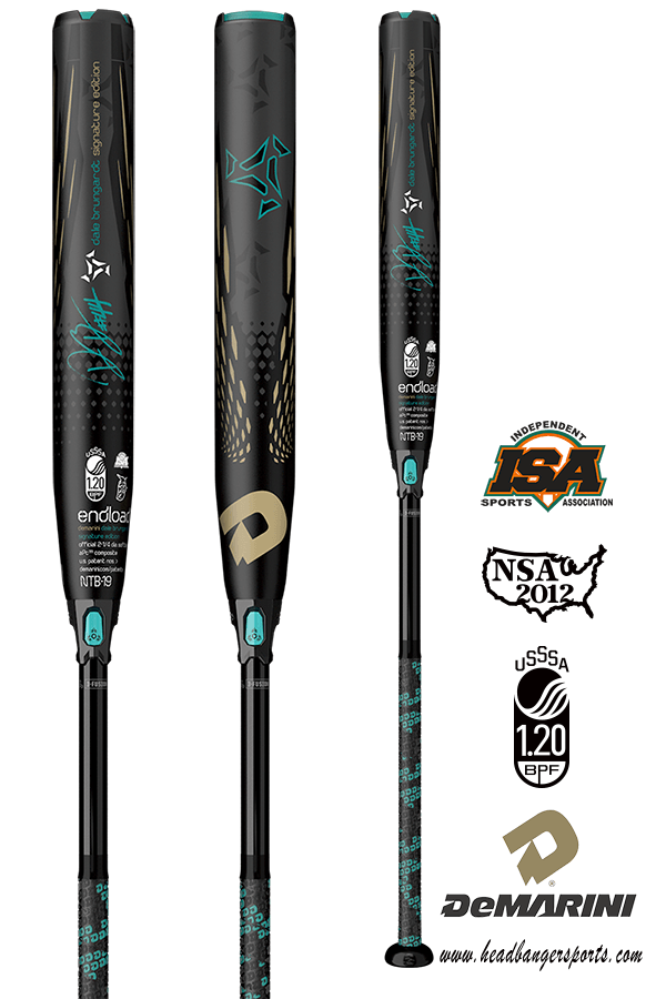 2019 DeMarini DB44 USSSA Slowpitch Softball Bat: WTDXNTB-19 at headbangersports.com