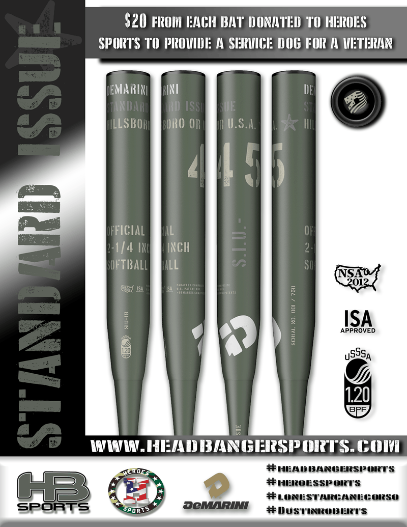 DeMarini 2018 Standard Issue USSSA Slowpitch Softball Bat: WTDXSIU-18 at headbangersports.com