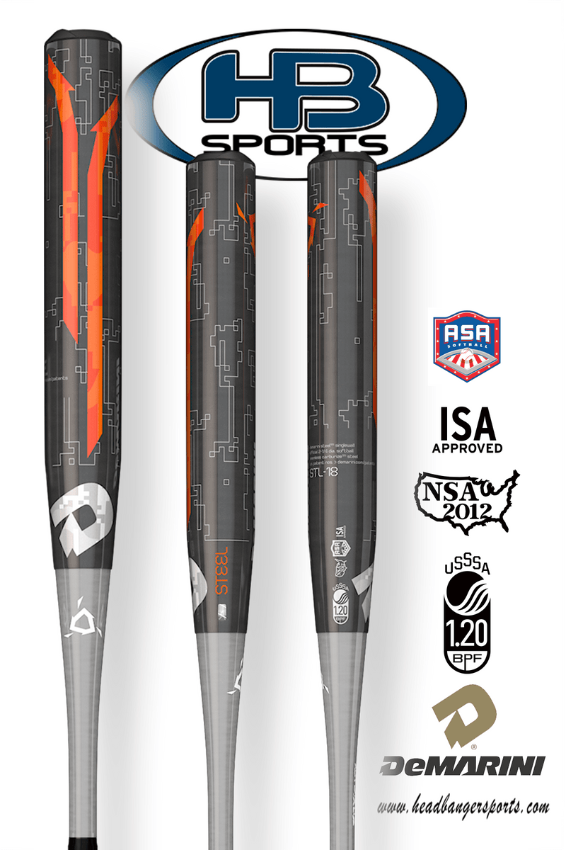 2018 DeMarini Steel USSSA & ASA Slowpitch Softball Bat: WTDXSTL-18 at headbangersports.com