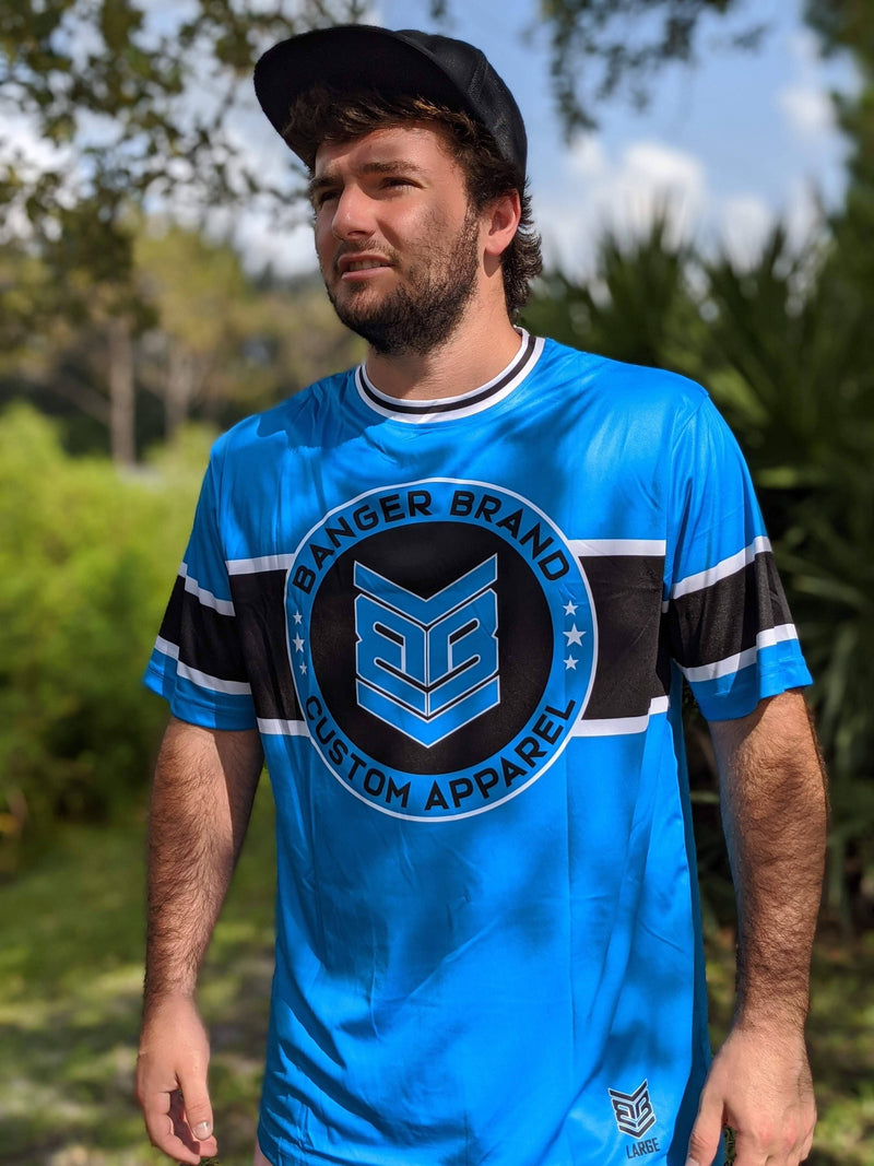 Banger Brand Exclusive Short Sleeve Circle Logo Jersey: Electric Blue