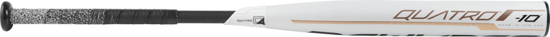 Side Quatro View of 2019 Rawlings Quatro -10 Fastpitch Softball Bat: FP9Q10