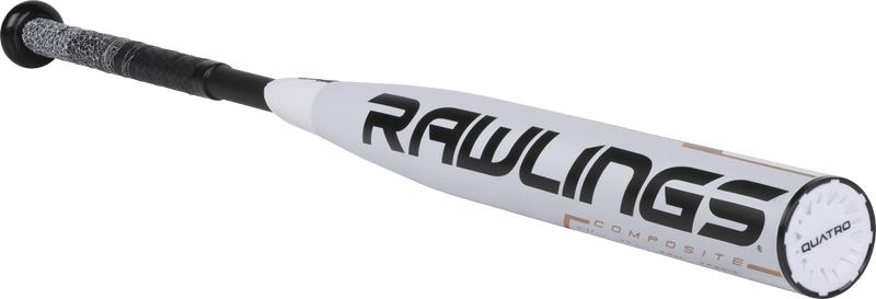 Angled Rawlings View - 2019 Rawlings Quatro -10 Fastpitch Softball Bat: FP9Q10