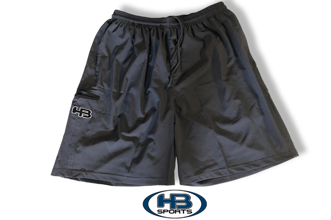 Charcoal Four (4) Way Stretch Shorts at headbangersports.com