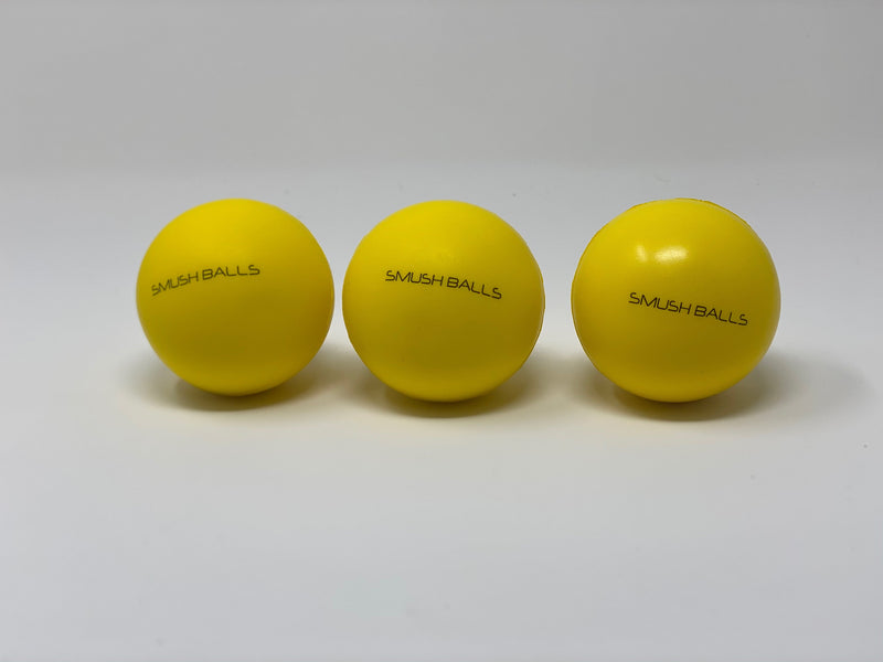 One Dozen (12) SMUSHBALLS the Ultimate Indoor & Outdoor Batting Practice Ball: Yellow