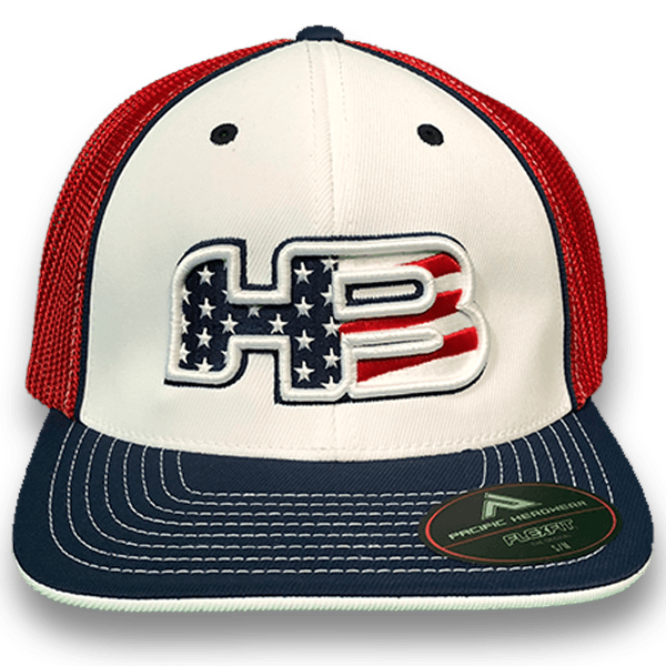 HB Sports Exclusive Pacific 404m Fitted Hat: Stars and Bars at headbangersports.com