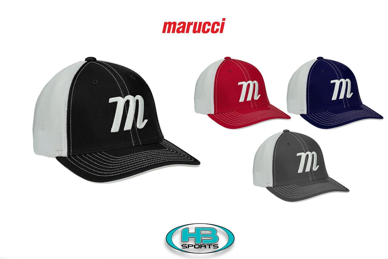 bd48aaf5d4e Marucci M Logo Trucker Hats with Free Shipping