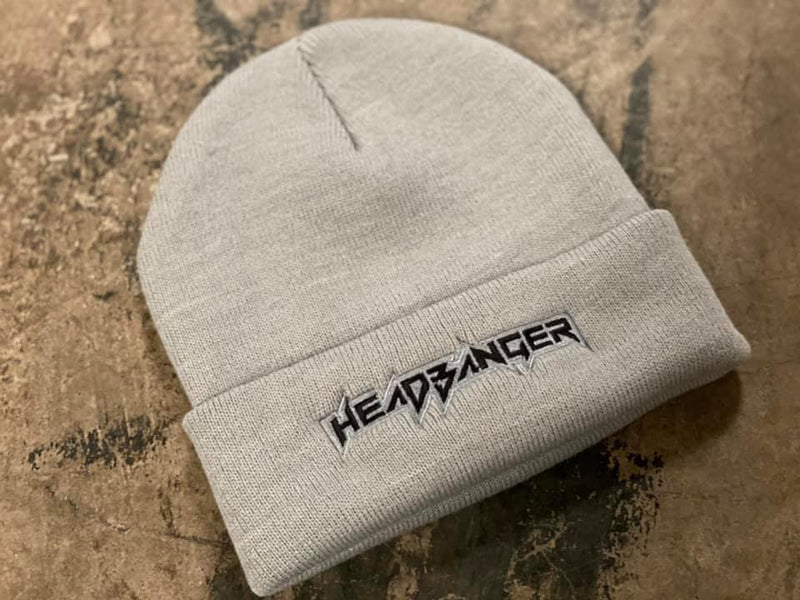 Headbanger Sports OG Logo'd Two-Tone Cuff Beanies: Grey