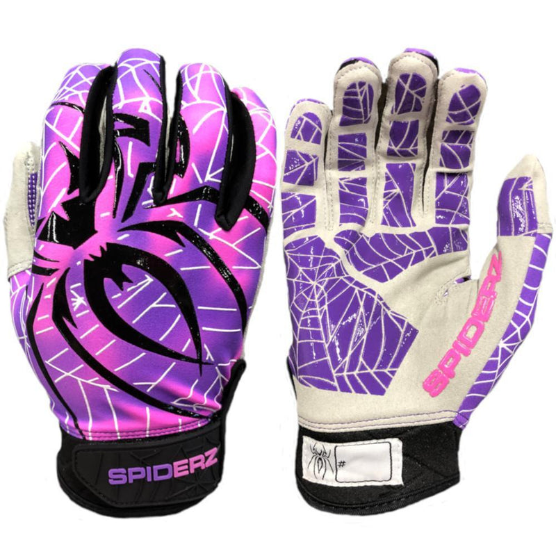 2020 Spiderz Hyper LITE Batting Gloves: Sin City Purple/Pink/White