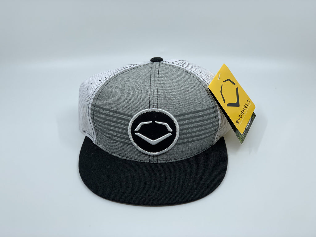 EVOSHIELD THROWBACK PATCH WOOL SNAPBACK HAT: HEATHER / BLACK