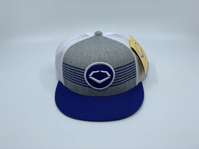 EVOSHIELD THROWBACK PATCH WOOL SNAPBACK HAT: HEATHER / ROYAL