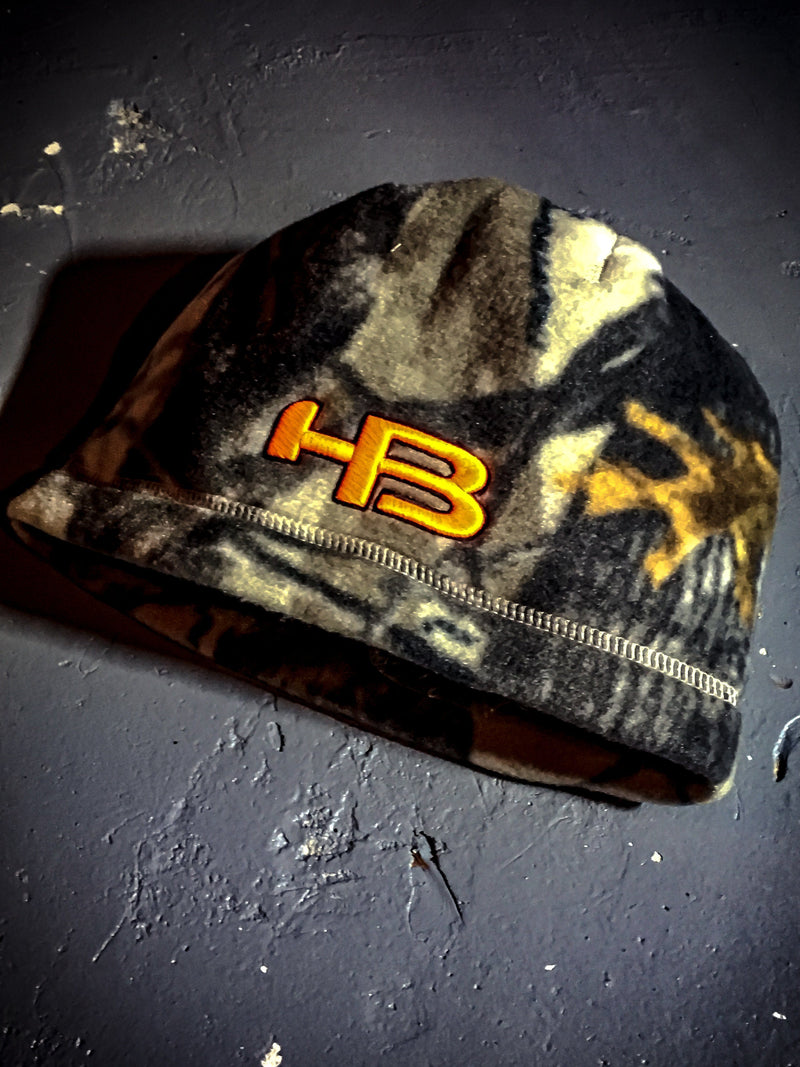 HB Sports Hunting Real Tree Camo Neon Orange Hunting Cap Beanie