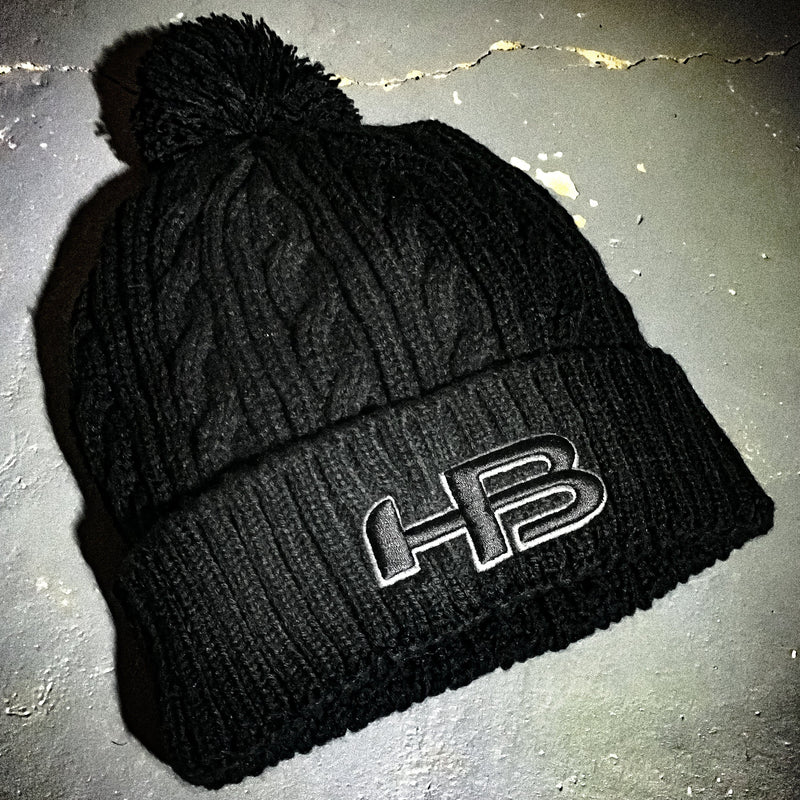 HB Sports Woven Knit Winter Hat (Beanie)