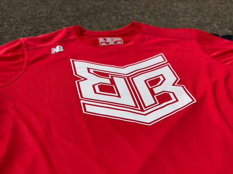 New Balance Banger Brand Short Sleeve Tee TMMT500: Team Red