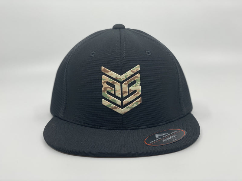 Banger Brand Exclusive Pacific ES341 Premium Performance Trucker Flexfit Hat: Camo