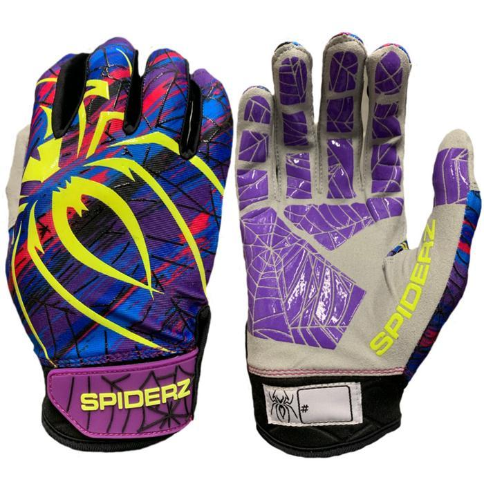 Spiderz Flash (Purple, Pink, Yellow, and Blue) Batting Gloves