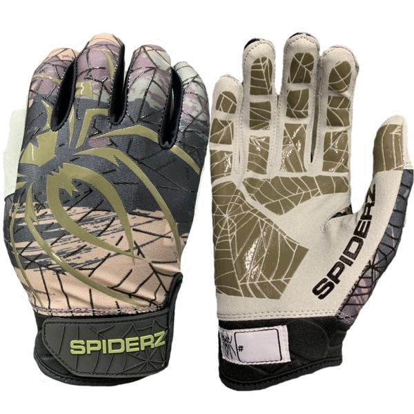 2019 Spiderz LITE Batting Gloves: Hunter Camo