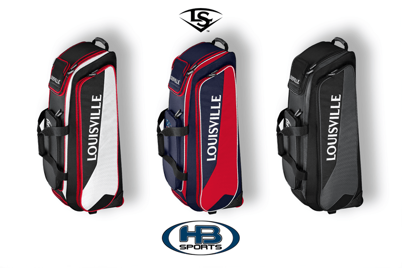 Louisville Slugger Prime Rig Wheeled Roller Bag at headbangersports.com