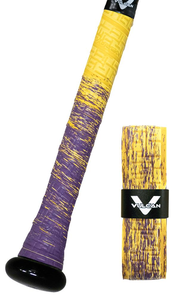 Mardi Gras Vulcan Ultralight Bat Grips: Fade Series, Purple and Yellow