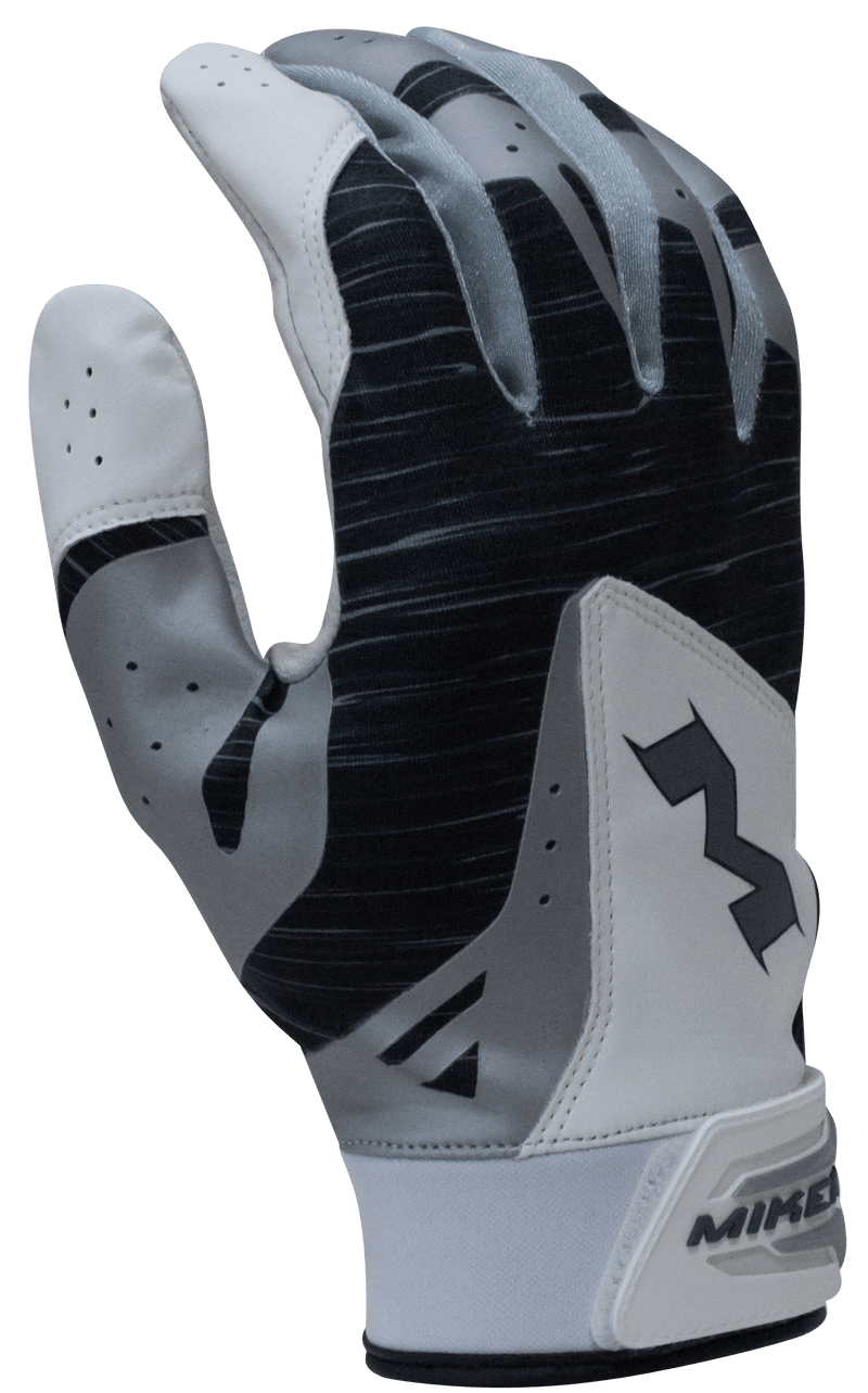 2018 Miken Pro Black Batting Gloves: MBGL18-BLK at headbangersports.com