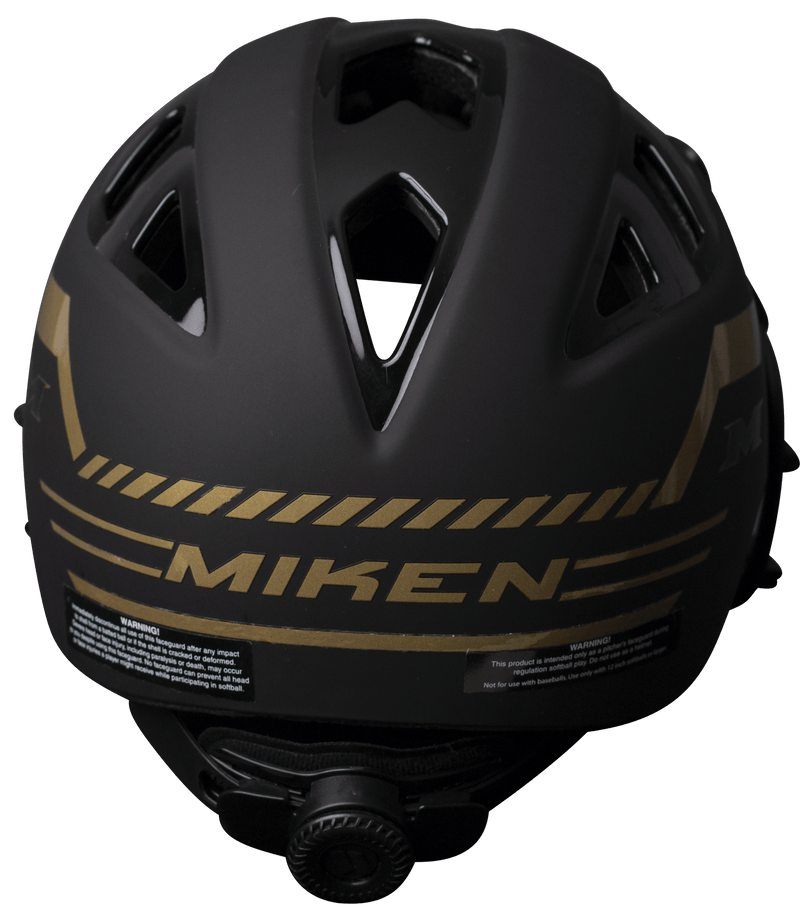 Miken GOLD Slowpitch Softball Pitchers Helmet Mask Limited Edition: