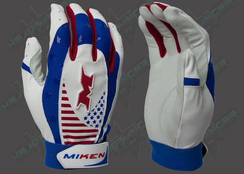 Miken Merica Pro Adult Batting Gloves MIKPRO-RWB