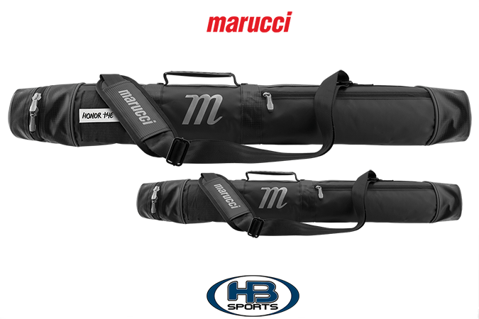 Side view of Marucci Black Bat Quiver: MBQVB
