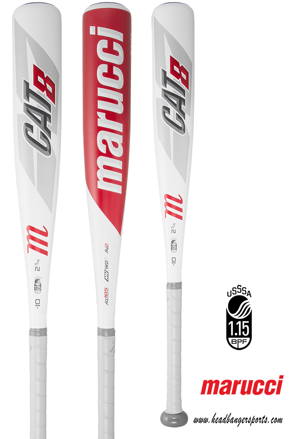 2019 Marucci CAT 8 (-10) Junior Big Barrel Baseball Bat: MJBBC8
