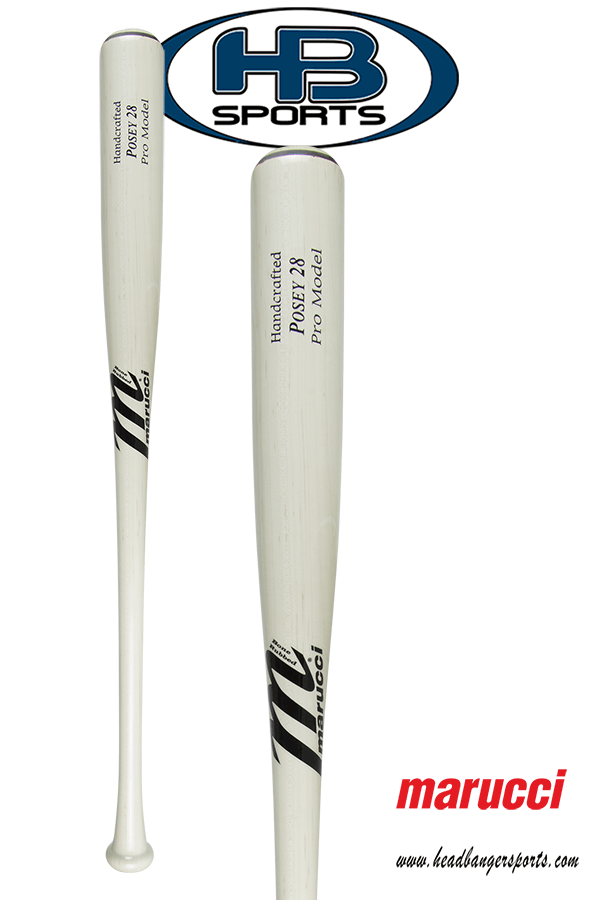 Marucci Buster Posey Maple Wood Baseball Bat: POSEY28 Whitewash at headbangersports.com